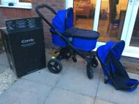 Icandy peach 3 travel system in cobalt blue