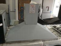 90cm stainless steel cooker hood. RRP £169. 12 month Gtee