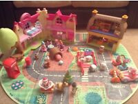big happyland bundle 2 houses 20+ characters/animals, accessories playmat etc