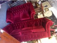 2 & 3 seater Chesterfield sofa