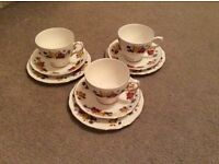 Colclough bone china cups saucers and plates