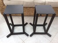 Good quality metal speaker stands with spikes