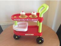 Toy tea trolley