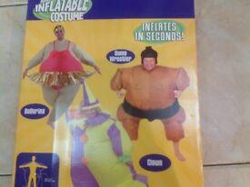 Self inflating sumo wrestler suits & 1ballerina