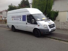 Cheapest around clean carpeted big removal van from single items to full loads