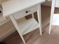 Ikea hemnes white stain bedside table