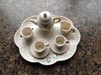 Rare Belleek Miniature Doll's HouseTea Service