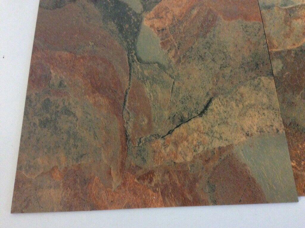 Karndean Knight Tile T84 Copper Slate Vinyl Floor Tiles In Beer