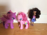 My little pony x2 and Dora the explorer doll