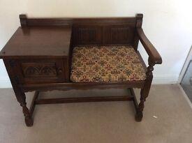 Old charm, telephone seat