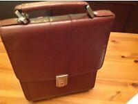 MAN BAG .NEW .Make .ROCKLANDS London .Brown leather.