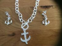 Necklet and earring set mikey London