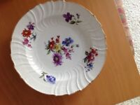 Very colourful flower plate