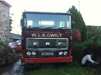 ERF 8x4 chassis cab lorry