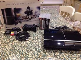 Sony Playstation 3 80GB COD World at War Edition *Plus Many Extras in Bundle all the CODs*