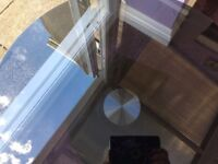Black glass table like new