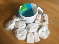 AWARD winning reusable TOTSBOTS nappies (birth to potty)