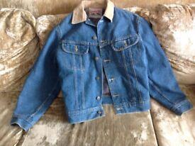 Lee Storm Rider denim jacket: blanket lined