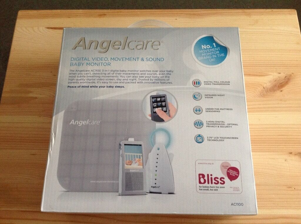 Angelcare Ac1100 Video Movement Sound Baby Monitor With