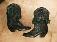 WESTERN STYLE LADIES LEATHER BOOTS~NEVER WORN ONLY TRIED ON