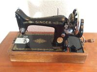 Classic vintage Singer sewing machine ready for collection