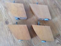 Feet for modern furniture - four wooden and tapering look - great for a chair or sofa
