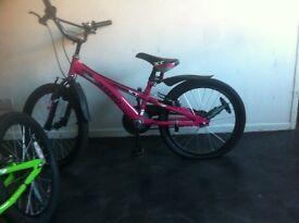 Girls pink bmx bike for child around 6-8 yrs
