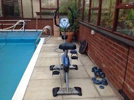 Carl Lewis electric exercise bike.