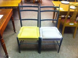 Good condition!!! Set of 6 multicoloured metal framed chairs
