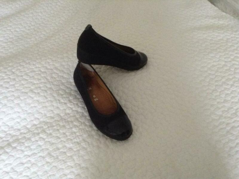 Ladies black suede and Patton shoes 5 1/2 wide fit by Gabor. for sale  Richmond, West London