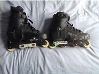 Inline skates, roller blades, Oxygen AR11 aggressive, for adult size 11-13.
