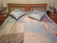 King size throw and matching quilt cover