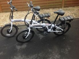 Viking Harrier folding electric bikes. Selling due to illlness.