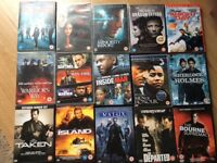 selection of dvd's ,action,adventure 50p each