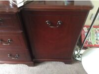 Large dark wood sideboard