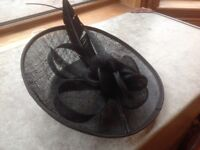 NEW Black wedding hat/fascinator