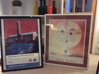 Large framed prints (3)