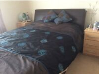 Kingsize Chocolate leather bed