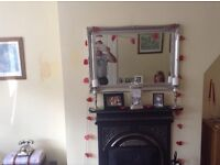 Victorian cast iron fireplace with black hearth. 3 years old buyer collects. £100