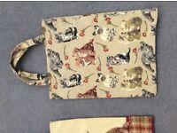 Cat cloth shopping bags