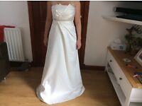 Ivory origami long wedding dress