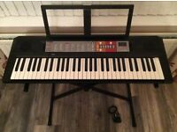 Yamaha F50 Keyboard and Stand