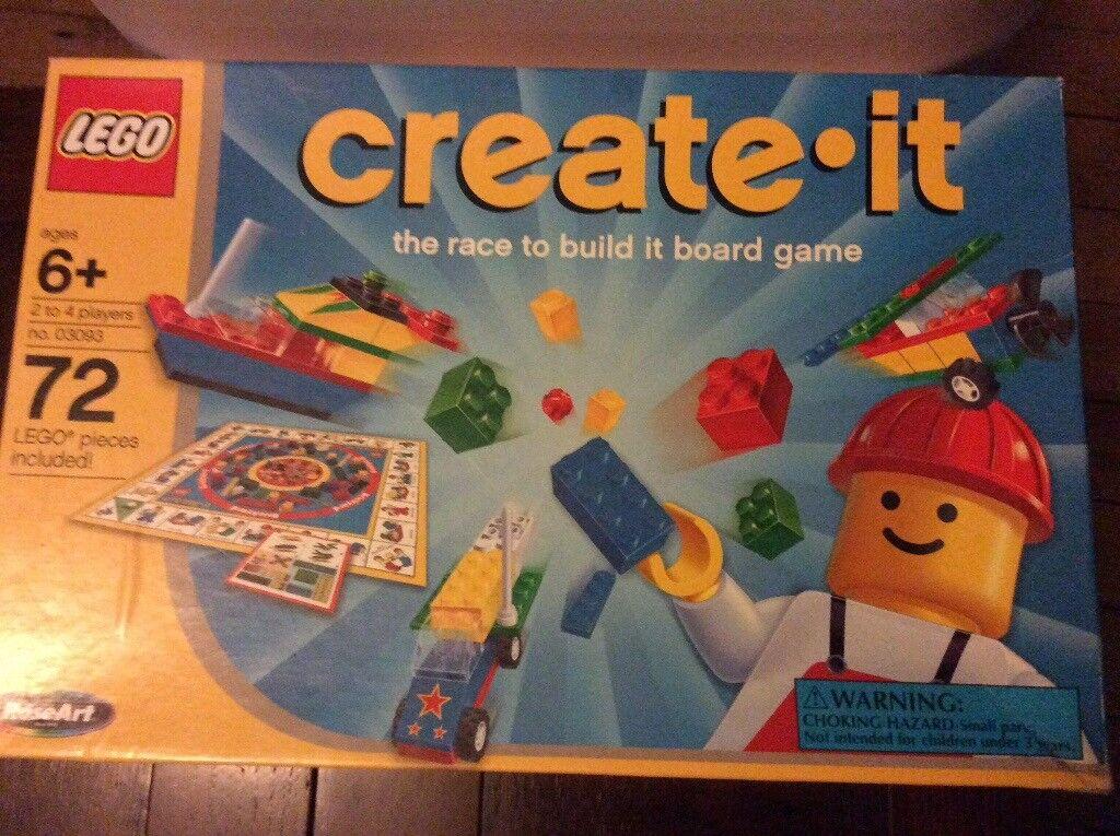Lego create it board game