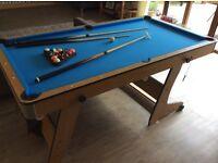 Folding pool table 6x3