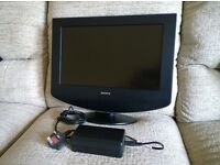 Sony 17 inch analogue LCD TV.