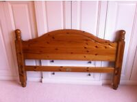 Solid pine double bed frame £40 ONO