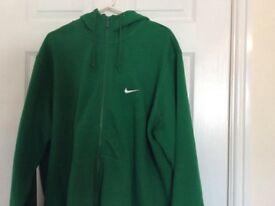 Green & White Nike Hoodie