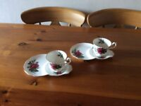 Richmond Bone China snack plate and cup sets