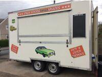 Burger van, running business with pitch Rogerstone newport