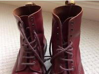 Dr Martens Oxblood Red 8 Hole Airwair Boots